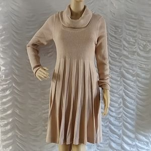 Calvin Klein Ribbed Knit Cowl Neck Dress